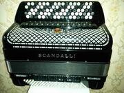 кнопочный аккордеон баян SCANDALLI Cromo Superior новый